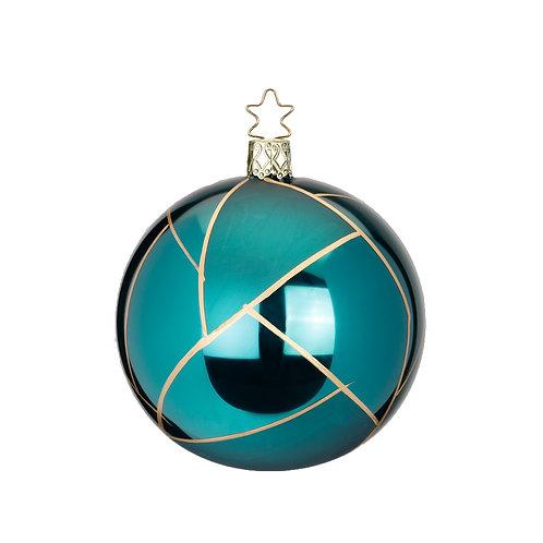 Tiffany Turquoise 8cm Bauble - Inge Glas