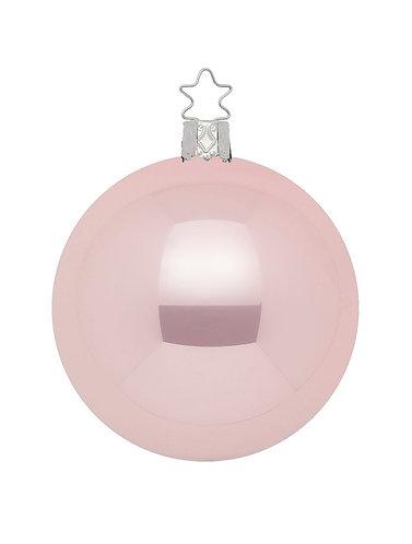 Light Rose Pearl 12cm Bauble - Handcrafted Inge Manufaktur