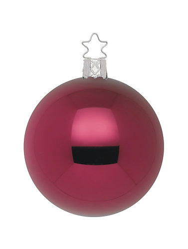 Burgandy Shiny 12cm Bauble - Handcrafted Inge Manufaktur