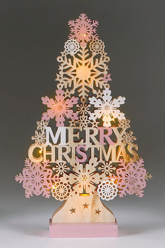 Pink LED Tree - Large