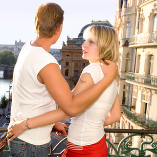 YOUNG COUPLE IN PRAGUE