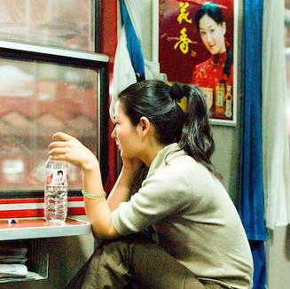 CHINA - Women in a train