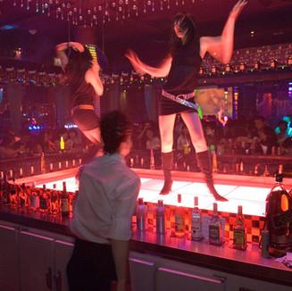 BEIJING - Female dancers in a bar