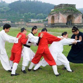 WUDANGSHAN - Tai Chi students
