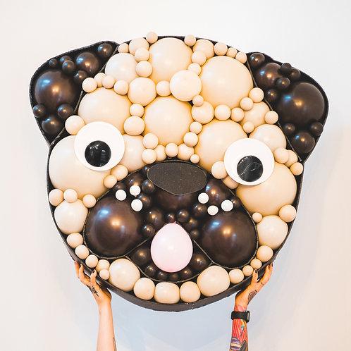 Pug Puppy Balloon Mosaic