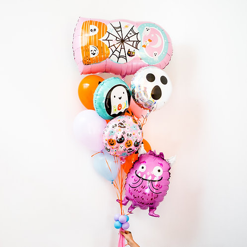 Pastel Halloween Balloon Bouquet