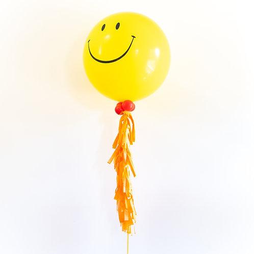 Smiley Jumbo Tassel Helium Balloon
