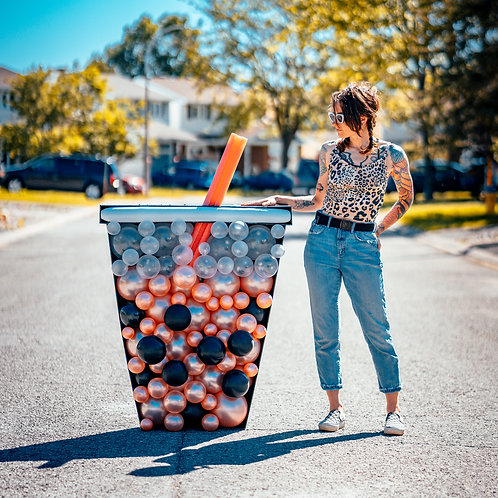 Boba Tea Balloon Mosaic - Choose your Colors
