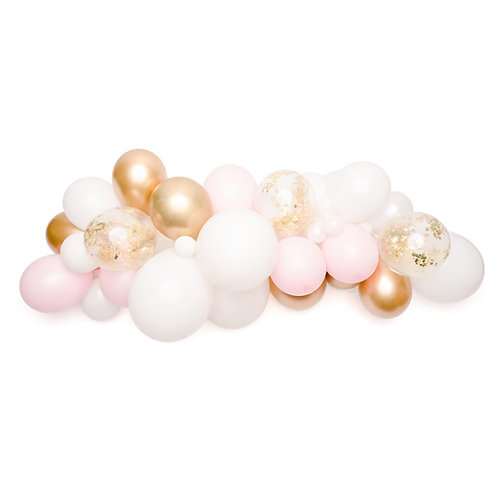 Pink and Gold Confetti  Balloon Garland (Ready to Hang)
