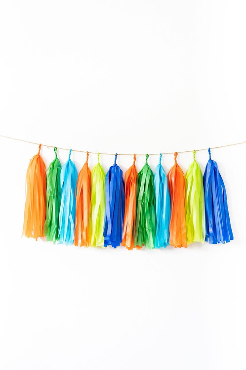 Dinosaur Tassel Garland Balloon Tail