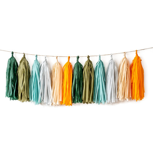Woodland Tassel Garland Balloon Tail