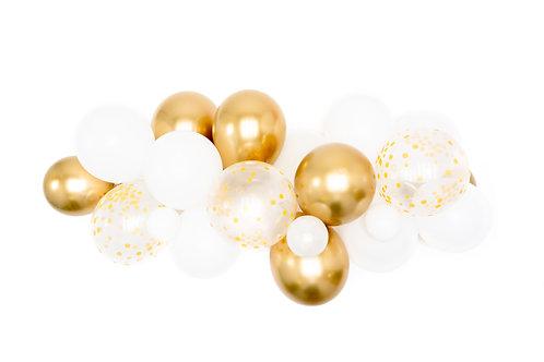 White Gold Balloon Garland (Ready to Hang)