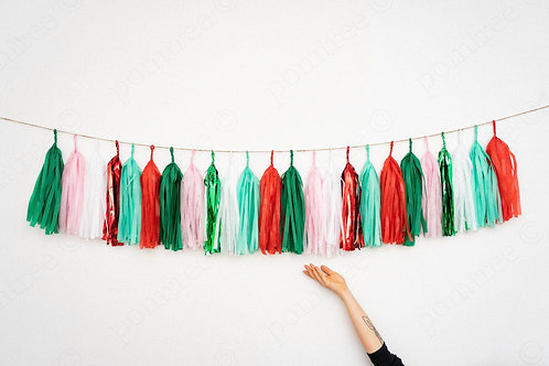 Christmas Tassel Garland Balloon Tail
