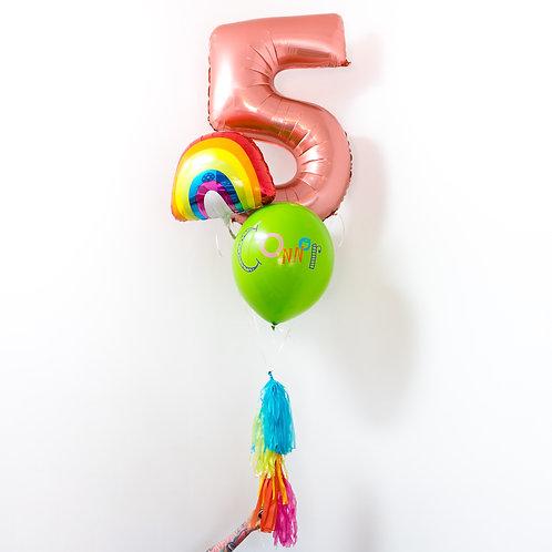 Birthday Rainbow  Helium Balloon Bouquet