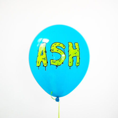 Custom Slime Name Helium Balloon - Choose Your Colors