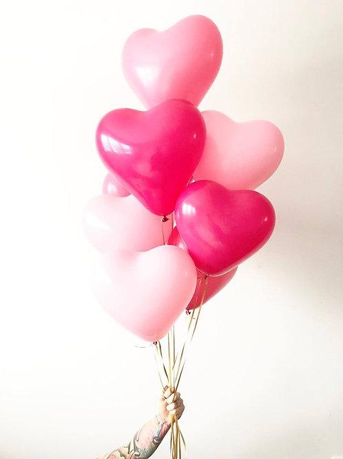 Heart Helium Bouquet