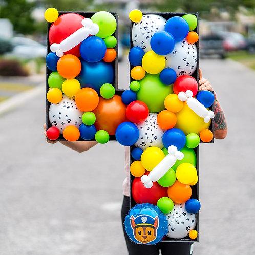 Paw Patrol Balloon Mosaic Number - Custom Name