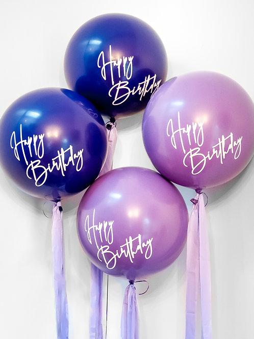 Jumbo Happy Birthday Tassel Helium Balloon - Choose Your Colours