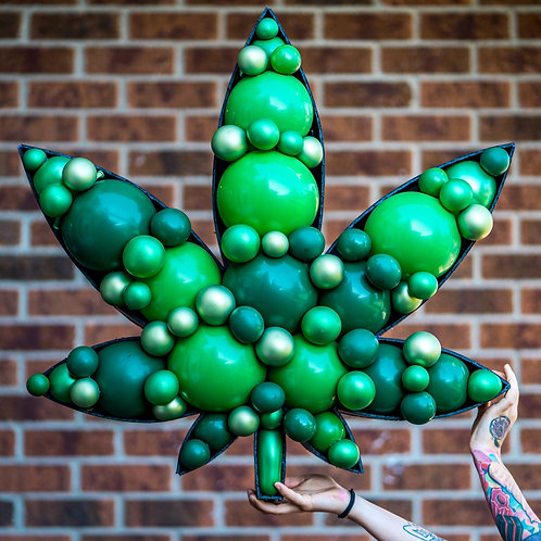 Weed Marijuana Leaf Balloon Mosaic - Choose your Colors