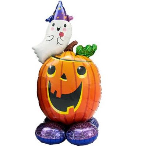 Pumpkin Ghost Halloween Balloon Sculpture
