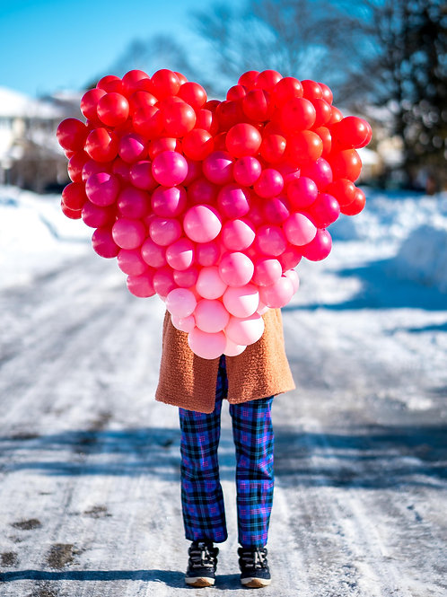 Heart Balloon Sculpture - Choose your Color and Size