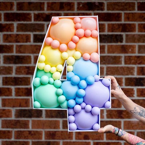Pastel Rainbow Balloon Mosaic