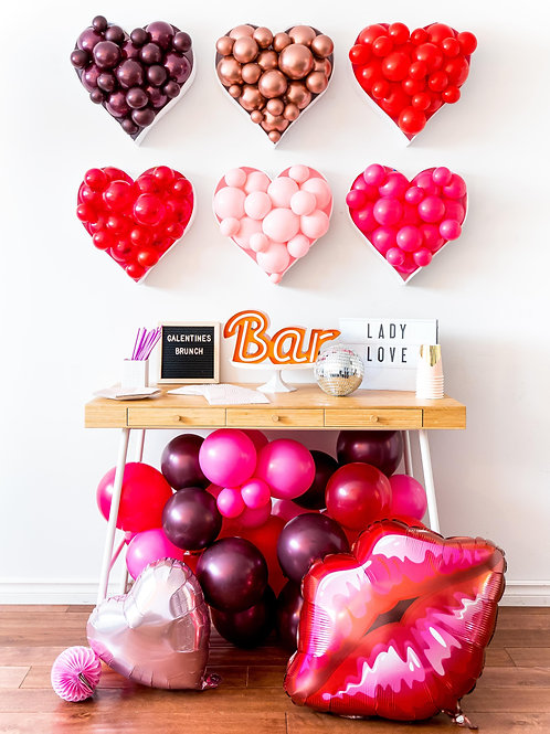 Heart Balloon Mosaic - Choose your Color and Size