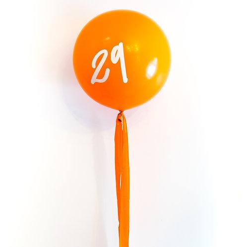 Custom Number Jumbo Tassel Helium Balloon