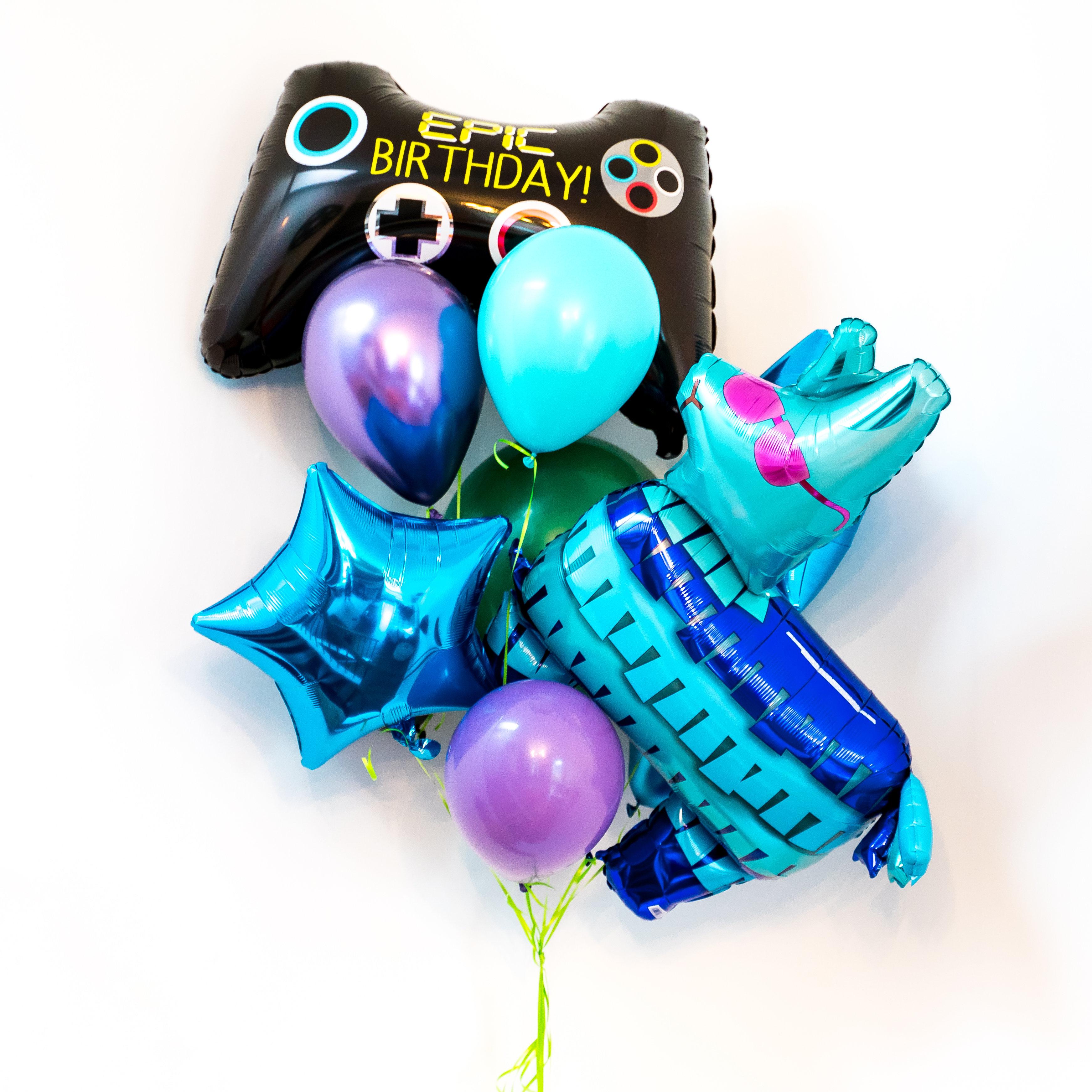 Gamer Helium Balloon Bouquet Bangin Balloons
