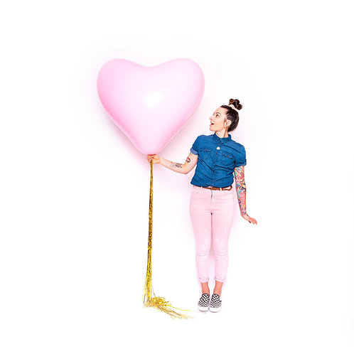 Jumbo Heart Helium Balloon - Choose Your Colours
