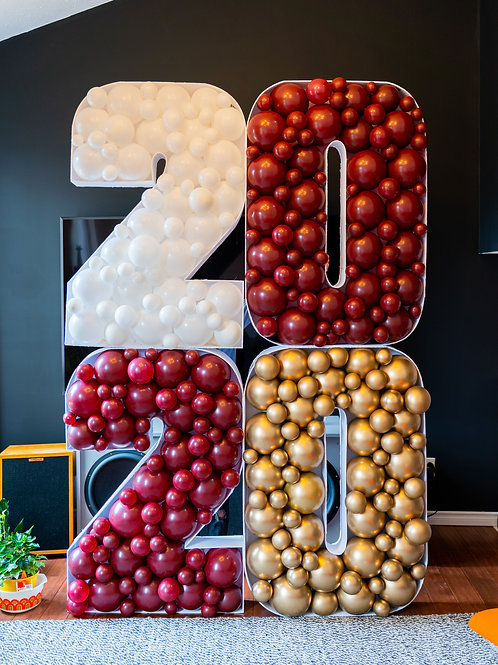 2020 Graduation Balloon Mosaic Number or Letter - Custom Colors