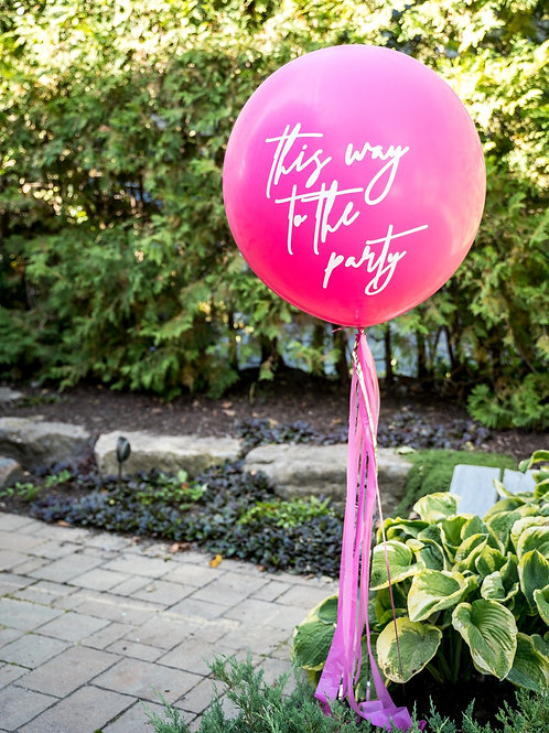 Custom Jumbo Tassel Helium Balloon - Choose Your Colours