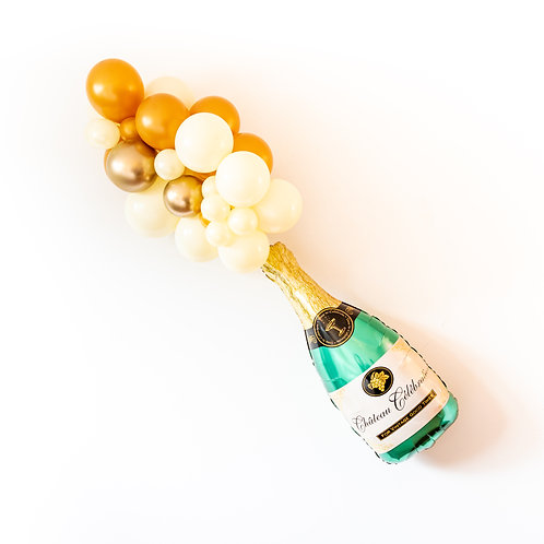 DIY Champagne Bottle Balloon Garland Kit