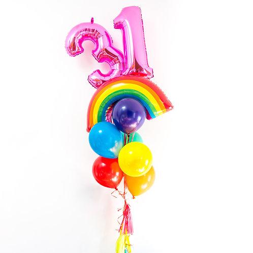 Giant Rainbow Birthday Bouquet