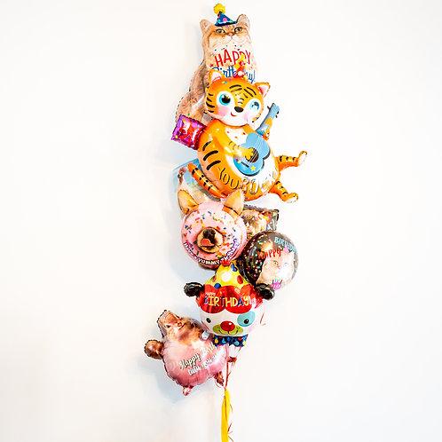 Party Animal - Birthday Helium Balloon Bouquet