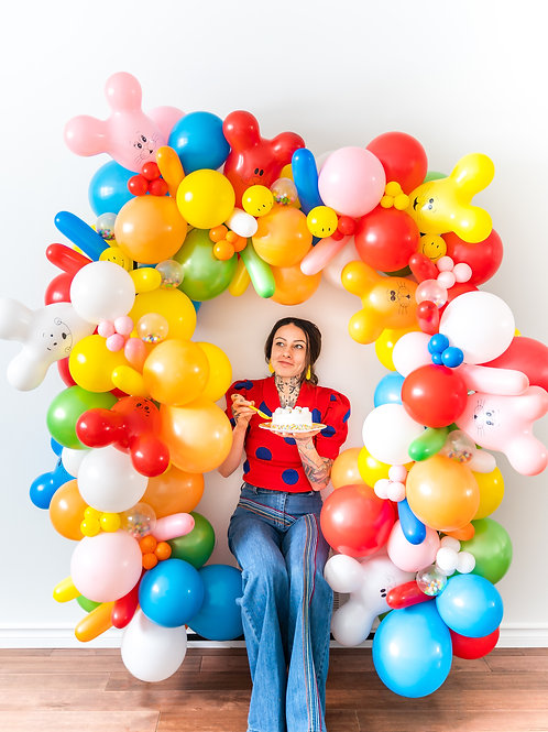 Retro Birthday Balloon Garland (Ready to Hang)