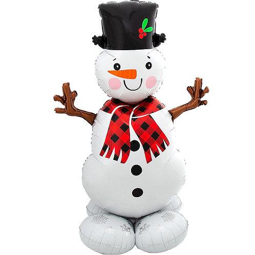 Snowman Holiday Balloon Sculpture