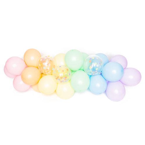 Pastel Confetti  Balloon Garland (Ready to Hang)