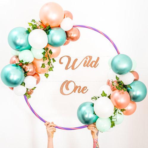 Balloon Hoop - Custom Glitter Text