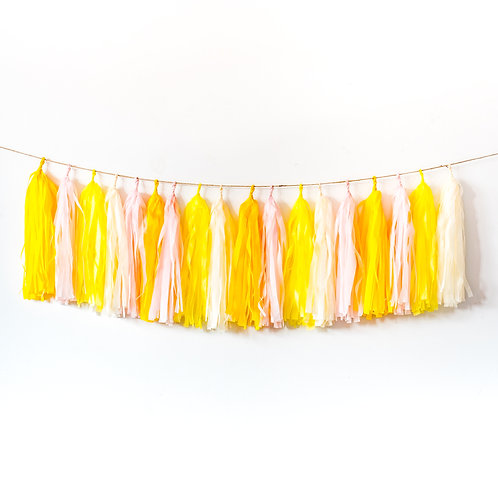 Lemonade Tassel Garland Balloon Tail