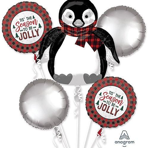 Jolly Penguin Holiday Helium Balloon Bouquet