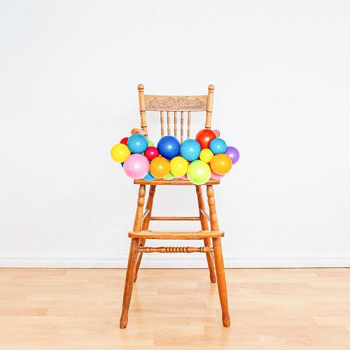 High Chair Mini Balloon Garland (Ready to Hang)