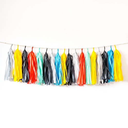 Super Hero Tassel Garland Balloon Tail