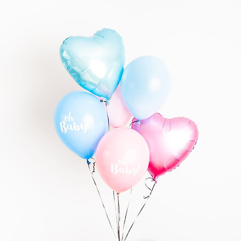 Gender Reveal Helium Bouquet