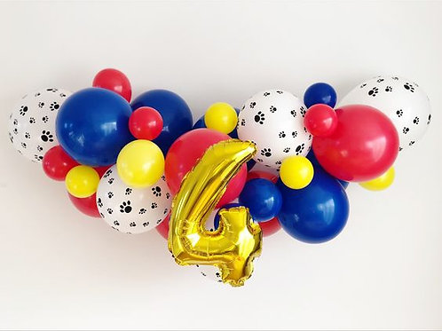 Birthday Age Balloon Garland (Ready to Hang)