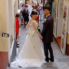 セ・ミュージュンコタマイドレスの先輩花嫁さまのお写真です💒_南イタリアのアマル