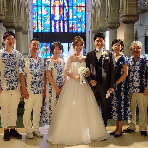 先日ハワイで書式、されたF様から素敵なお写真が届きました❗_#ウェディングドレス