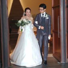 ご両親に送られる花嫁様とお二人の笑顔😊_チャペルにてリハーサルの模様⛪️✨_・