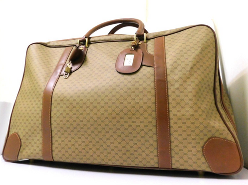20c9922be Vintage Gucci Canvas and Leather Suitcase
