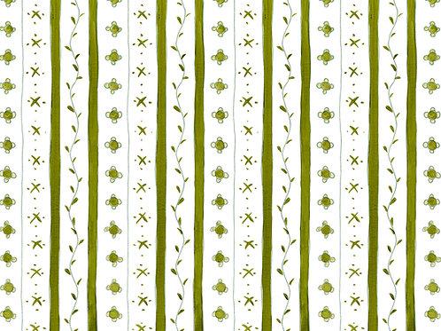 Delft Green Stripe